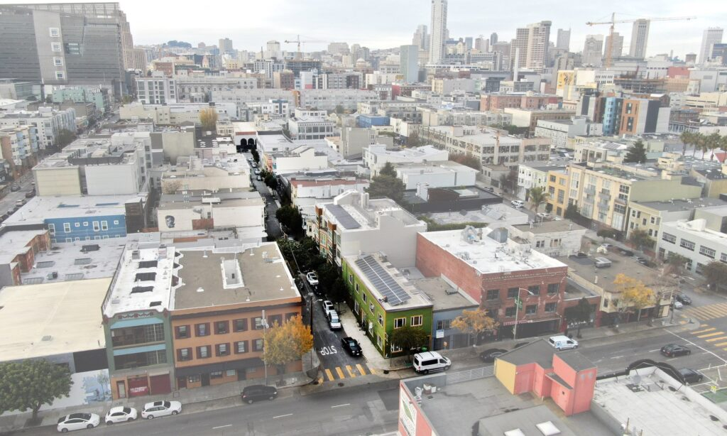 Aerial Photo of Moss St